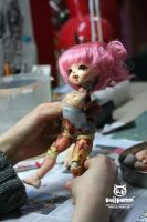 DollPamm Tiny type BJD sculpture in progress by DollPamm