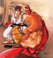 ryu and ken by Jaquio