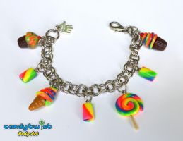 Rainbow Miniature Candies Charm Bracelet by Dabstar