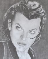 Milla Jovovich by naiyaparkash
