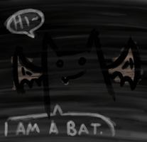 HI I AM A BAT by kaolincash
