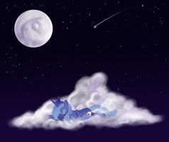 Sleeping Luna by Mikkii-WereWolfXD