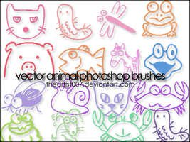 Cute Animal Brushes. by allisonwashko