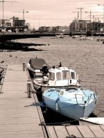 Blue Boat by ronankelly