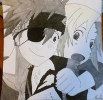 Lavi and Allen -D. Gray-man by martha1101