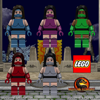 Lego Mortal Kombat Minifigures - Female Ninja by seancantrell