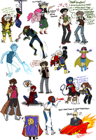 Marvel Sketch Dump 14 by Squidbiscuit