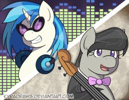 Tavi and Vinyl by KyraDraws