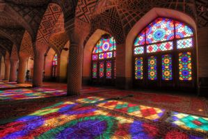 Nasir ol Molk Mosque , Shiraz by hofiak