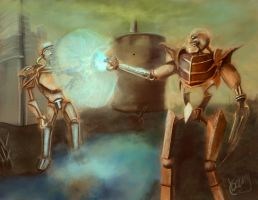Battle of Mechs by UnlivedGecko