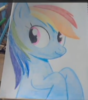 Rainbow Dash Speed Draw picture by RusticShine