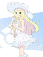 Lineart_Pokemon Lillie by Orcaleon
