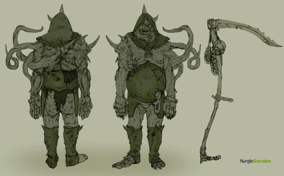 Herald of Nurgle concept by Zaets