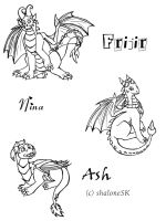 Frijir, Nina and Ash Line by GuardianOfTheFlame
