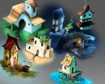 Houses experiment by caiobuca