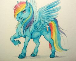 fanart I guess - Rainbow Dash - watercolors by oomizuao