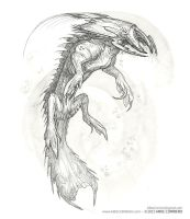 Water based Predatory creature by MIKECORRIERO