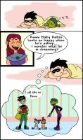 Robins Dream -Baby Titans by LibraryNinja