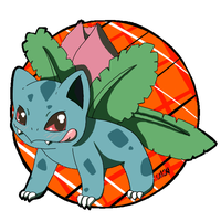 002- Ivysaur by CollectionOfWhiskers