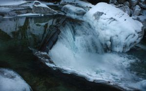 Frozen Waterfall by mariustipa