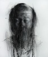 [109] Untitled Charcoal On Canvas 53.2 X 41 Cm by ShinKwangHo