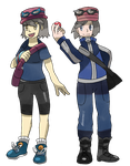 Commission Trainersona Emily and Xaiver (PAID) by Phatmon66