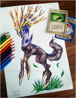 Xerneas by Acayth