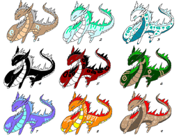 Eastern Dragon Adoptables [Open!] by OikikiO