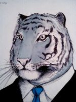 anthropomorphical situations: tiger by DonMocko