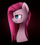 Pinkamena Profile view by Jadekettu