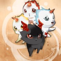 Jr. kitties. Maplestory by Pochi-mochi