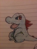 Totodile of Pen by Morbid-Flaw