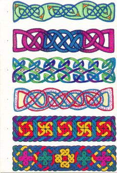 Knotwork Bookmarks - Pg 1 of 2 by Quilldriver