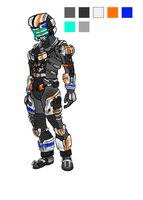 Dead Space 3 Arctic Engineering Suit Concept by LethalMoose