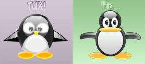 Tux Penguin Wallpaper Set by Zimed