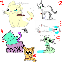 Free Cat Adoptables Closed by ScourgeRoks