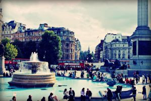 Day Out To Trafalgar Square by AmieLouisePhotograph
