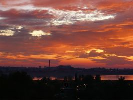 Sunset over the lake 2 by UNBREAKABLE2005