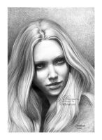 Amanda Seyfried drawing ii by dh6art