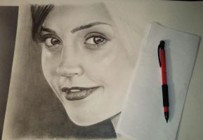 Jenna Louise-Coleman WIP by raul-duke-05