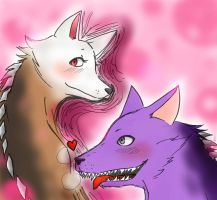 Art Trade: Viki and Max by ichigolove