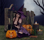 Pumpkin Witch by Frollein-Zombie