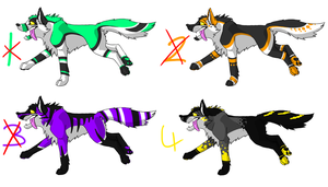 more wolf adoptables 20 points CLOSED by ripple09