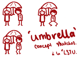 'Umbrella' - Concept sketches. by LetsSaveTheUniverse