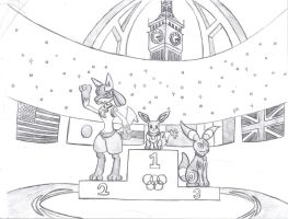 Medal Ceremony by Eeveelutionist