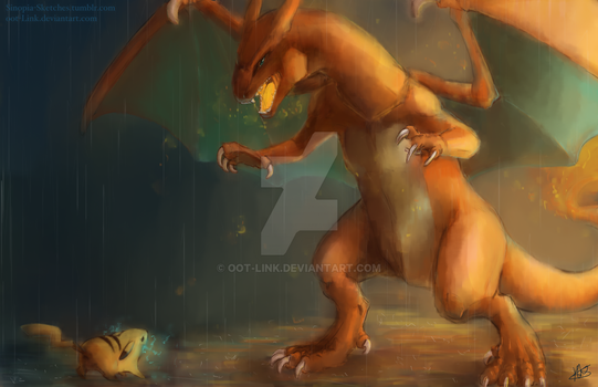 Battle in the Rain by OOT-Link
