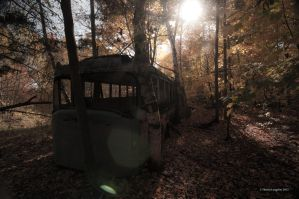 Bus lost in the woods... by Grimlord666
