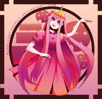 Princess Bubblegum by MoonlightTheWolf