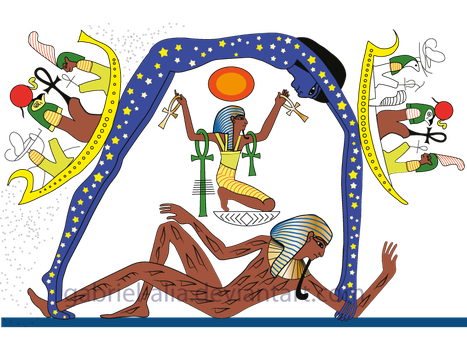 structure of the world of Egyptians by Gabriel-Alia