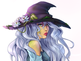 A little witch by JuliaGoldfox